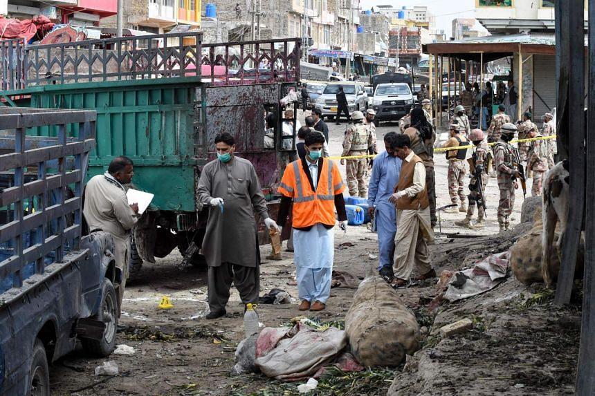 The blast took place at Hazar Ganji, a fruit and vegetable market on the outskirts of Quetta.
