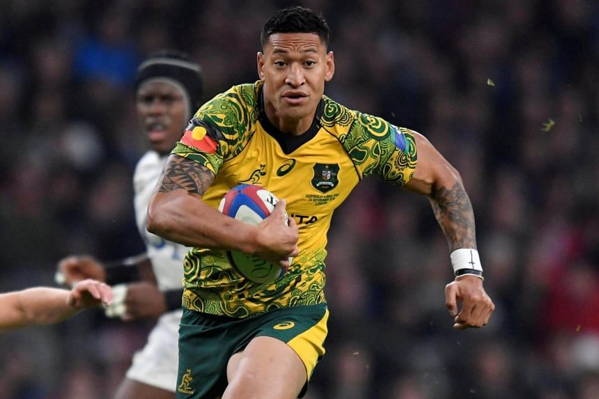 """Wallabies superstar Israel Folau posted that """"Drunks, homosexuals, adulterers, liars, fornicators, thieves, atheists and idolators - Hell awaits you."""""""