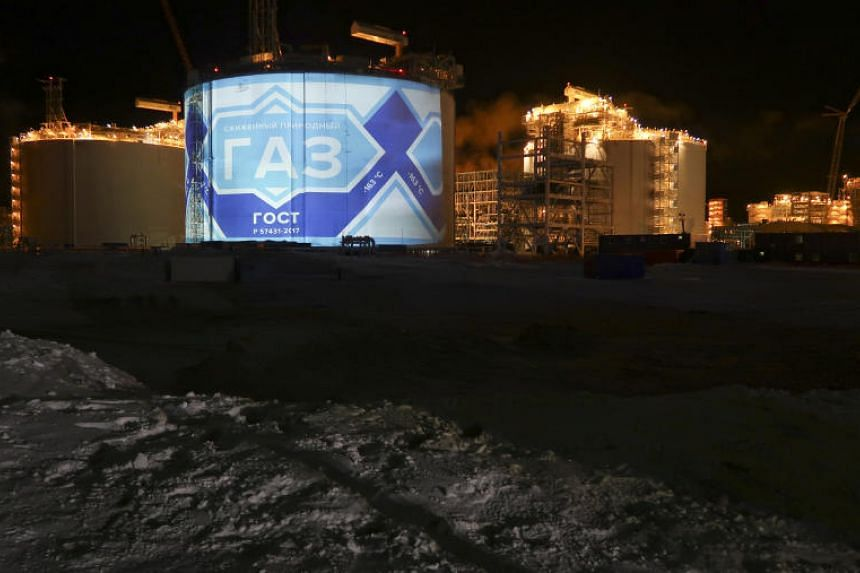 Gas from the Yamal Liquefied Natural Gas plant (above) in the Arctic port of Sabetta, Yamalo-Nenets district, Russia, can reach Chinese ports in about two weeks, half the time required to ship gas from the Middle East via the Suez Canal to China.