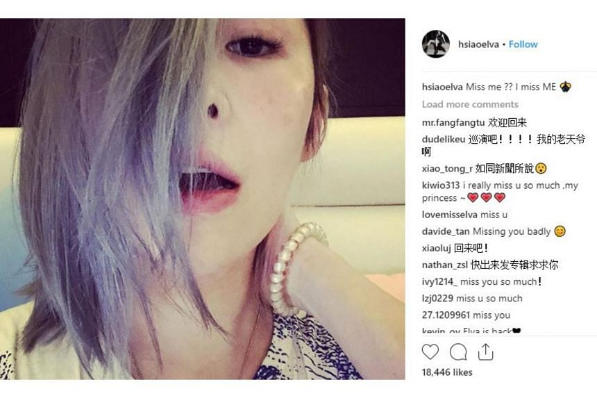"Taiwanese singer Elva Hsiao posted a selfie on her Instagram and Facebook accounts, with the caption ""Miss me ?? I miss ME""."