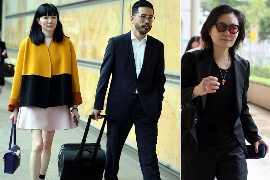 Aesthetics doctor Georgia Lee (left) and her lawyer Chong Yee Leong leaving the Supreme Court yesterday. Ms Anita Hatta (above) alleges that Dr Lee misled her into investing $2 million in her skincare brand by inflating sales revenue, among other thi