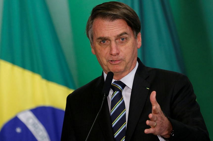 "Bolsonaro (above) said the move would be ""for the wellbeing of our population""."