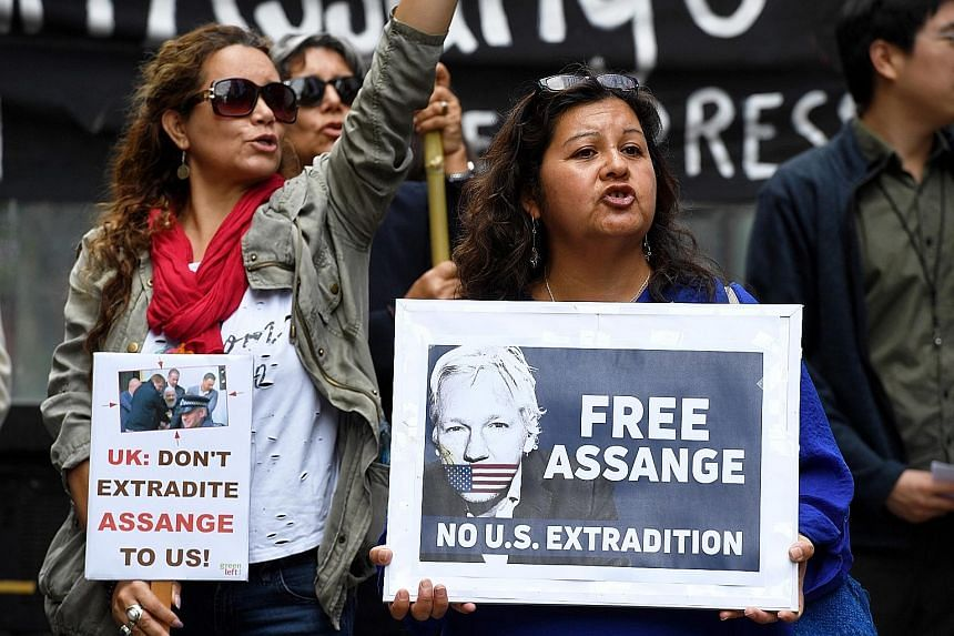 A rally in Sydney yesterday calling for the release of WikiLeaks founder Julian Assange, who was arrested in London on Thursday.