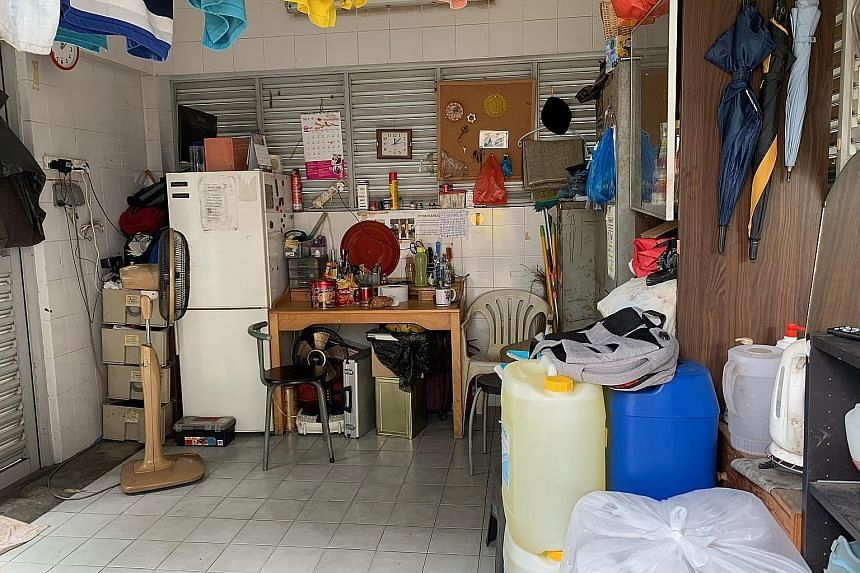 BREAK IN A BIN A bin centre was the best rest area which a cleaning supervisor, who gave his name as Mr Ramli, could find for himself and his six workers at a West Coast condominium. They have improved it by adding a fridge, washing machine and perso