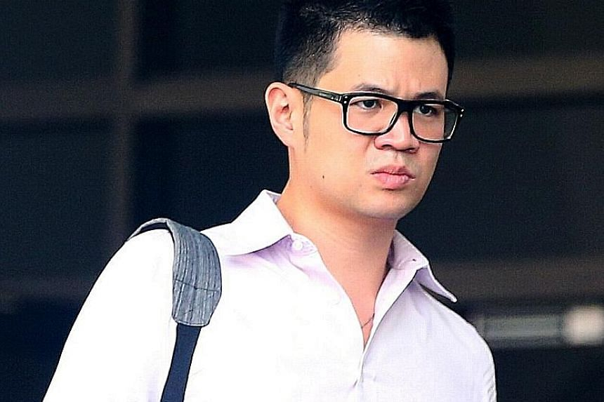 Eric Cheung Hoyu pleaded guilty to one count each of committing mischief and an offence under the Road Traffic Act. ST PHOTO: WONG KWAI CHOW