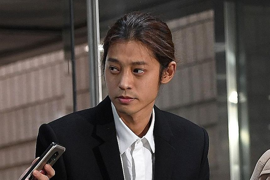 K-pop star Jung Joon-young at the Seoul central district court last month.
