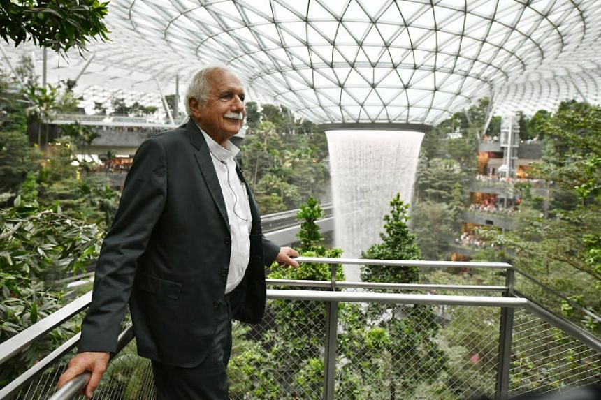 Jewel Changi Airport architect Moshe Safdie drew inspiration from the science fiction film Avatar (2009), which had a landscape that he says blew his mind.