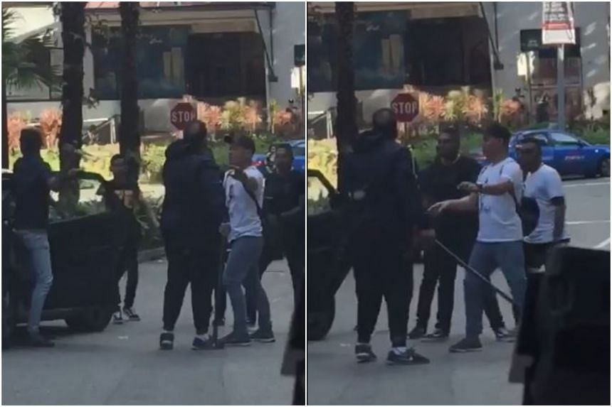 Police arrested five men in relation to the fight. It has been classified as a case of rioting with deadly weapon.