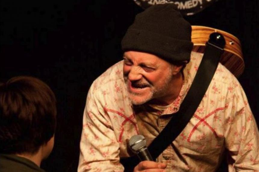 During the performance, stand-up comedian Ian Cognito sat down on a stool while breathing heavily, before falling silent for five minutes.