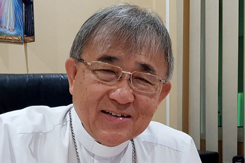 BISHOP CORNELIUS SIM, head of the Catholic Church in Brunei, who says no one from the Christian community has approached him to voice concern.