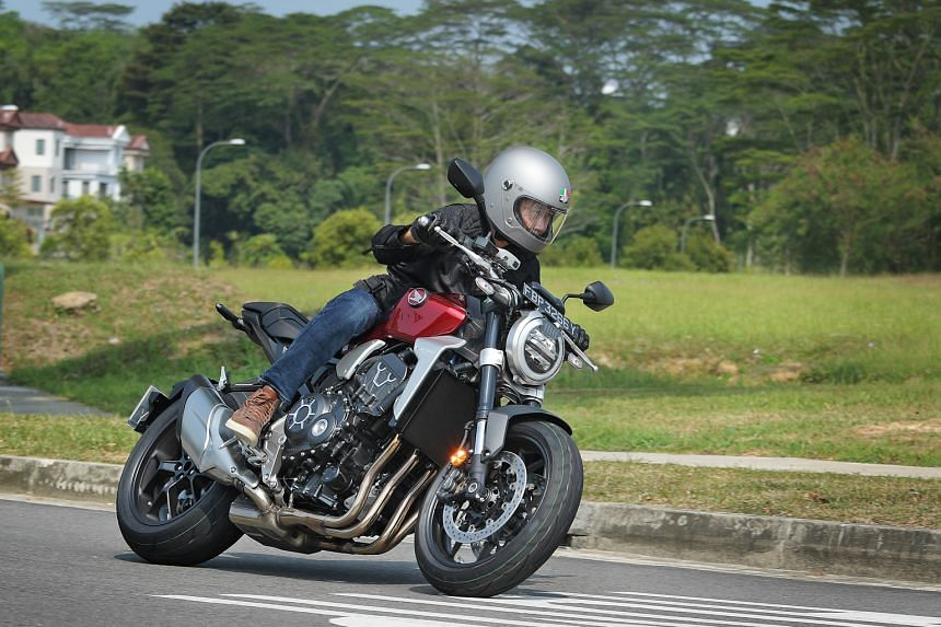 The Honda CB1000R Neo Sports Cafe runs on a 998cc inline-four and has loads of low- and mid-end torque.