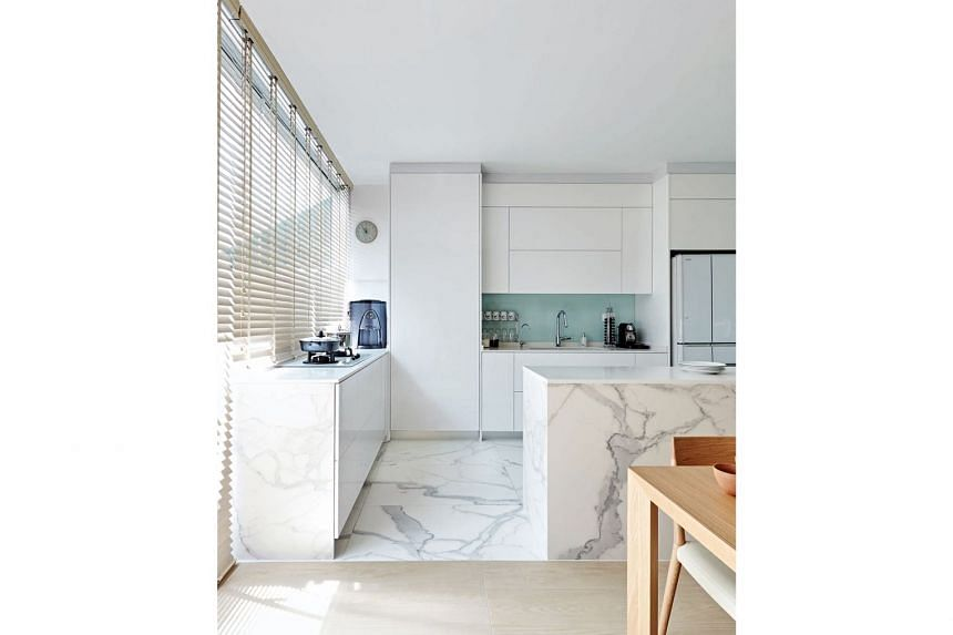 The home owners' dream for an all-white kitchen has finally been realised.