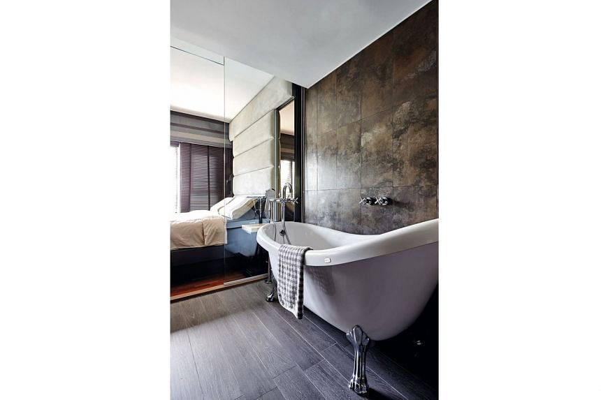 New sanitary fittings, such as a new showerhead, add a glamorous sheen to the bathroom.