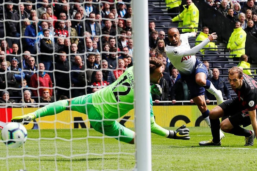 Lucas Moura scoring his first goal and the team's second against Huddersfield at the Tottenham Hotspur Stadium. The bulk of Spurs' regulars were rested ahead of the Champions League second leg against Manchester City.