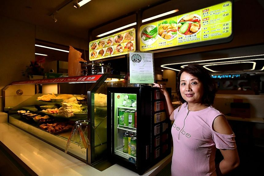 Ms May Liu, business owner of halal-certified yong tau foo stall Green Delights, which was rocked by fake news alleging that it sold a pork dish last year. She said that though an investigation found that the stall had not violated any rules, the dam