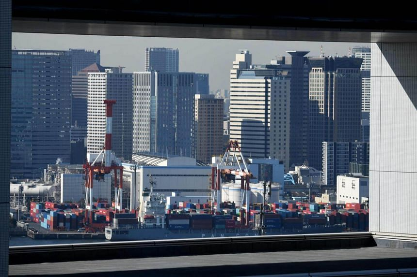 A container yard in Tokyo's port, on Jan 23, 2019. US President Donald Trump has frequently complained that Japan has an unfair advantage in bilateral trade and vowed to fix that.