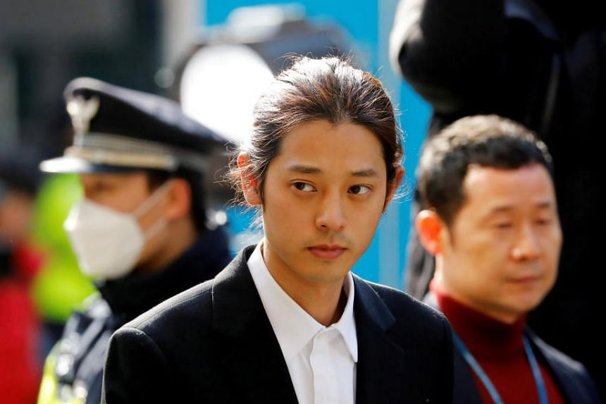 Reporter Kang Kyung-yoon revealed that an artist in singer Jung Joon-young's (above) chatroom had described one of his sexual conquests as a comfort woman.