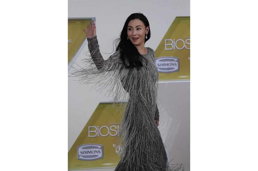 Hong Kong actress Cecilia Cheung arrives for the Star Awards ceremony on April 14, 2019.