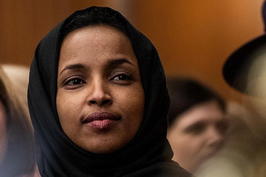 Ms Ilhan Omar has been the target of conservative criticism after comments she made about the Sept 11, 2001, attacks last month.