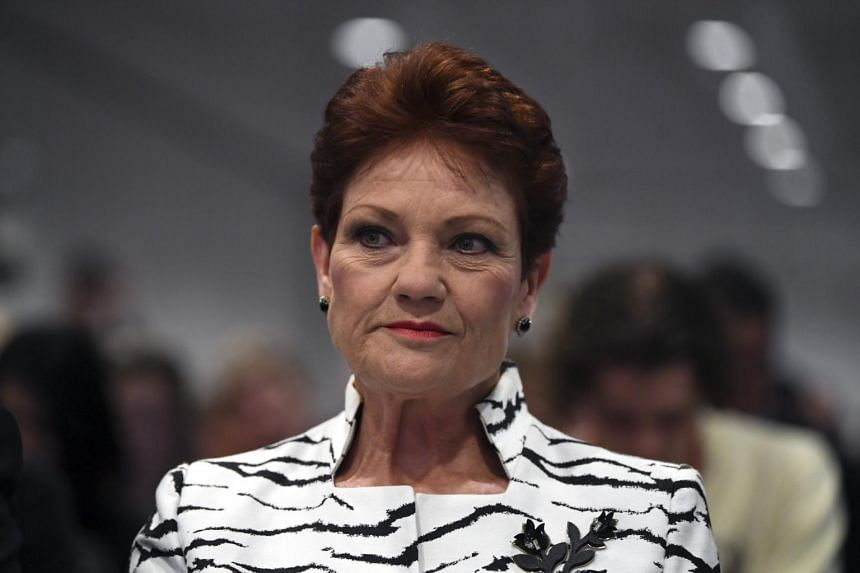 One Nation Senator Pauline Hanson. Support for One Nation peaked at 11 per cent of the primary vote two years ago, when it held the balance of power in the upper house Senate.