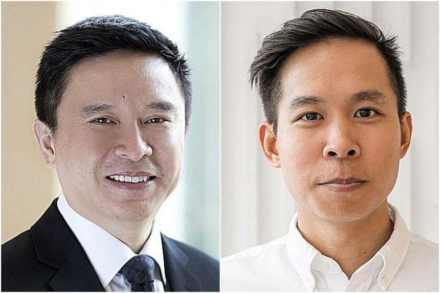 Mr Edmund Koh (left), president of UBS Asia Pacific, put up seed funding of $5 million for WhiteCoat, which was set up by his children. Mr Bryan Koh founded WhiteCoat with his sister Natalie.