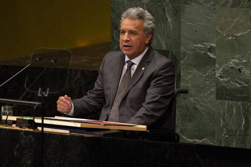 """We cannot allow our house, the house that opened its doors, to become a centre for spying,"" said Ecuadoran President Lenin Moreno."