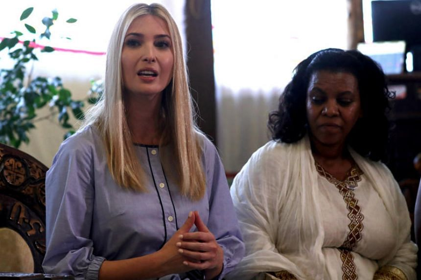 White House advisor Ivanka Trump attends a meeting with women from the coffee industry during her visit to Addis Ababa, Ethiopia, on April 14, 2019.