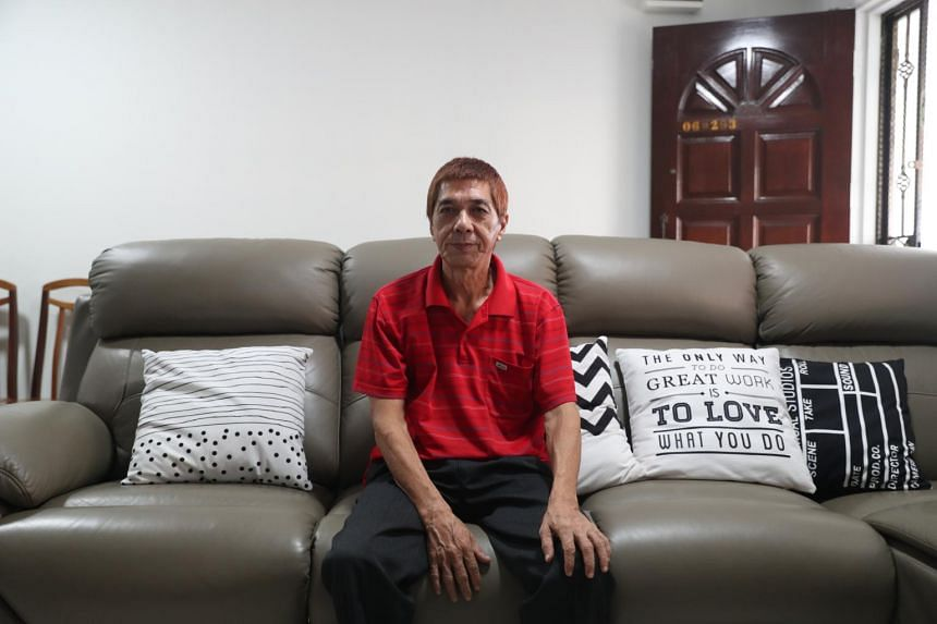 Mr Sim Eng Sua in his Bukit Panjang flat, where his missing father used to stay.