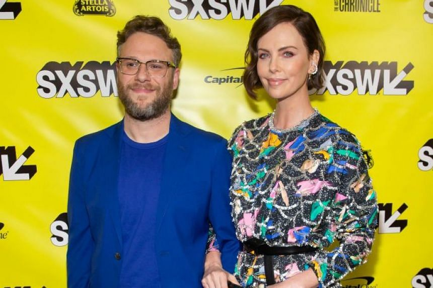 In romantic comedy Long Shot, Charlize Theron (right) stars as a presidential candidate opposite Seth Rogen (left) as her speechwriter.