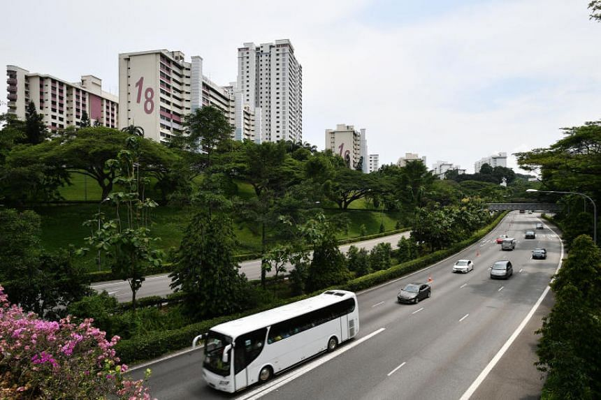 The traffic along Ayer Rajah Expressway in Lower Delta Road. The $79.6 million undertaking started three years ago and will be finished by the end of 2020, the Land Transport Authority said.