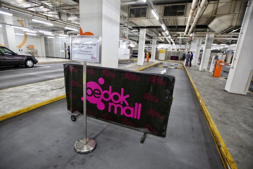 The incident happened about 6.20pm due to a fault in the carpark's gantry system, the mall told The Straits Times on Monday.