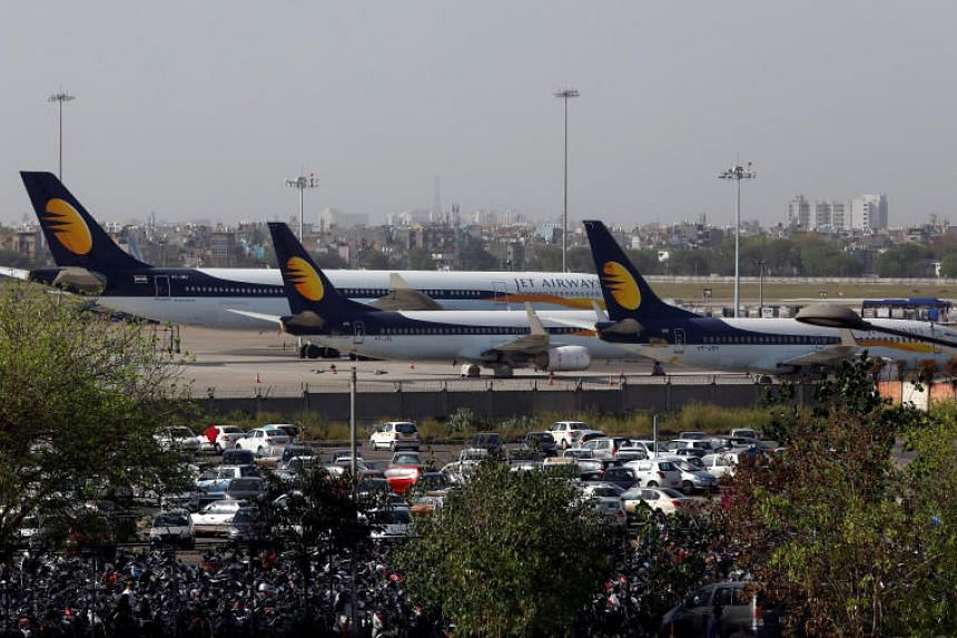 Thousands of passengers have been stranded in recent days after Jet Airways, which has debts of more than US$1 billion (S$1.35 billion), cancelled all international flights as it cannot pay its bills.