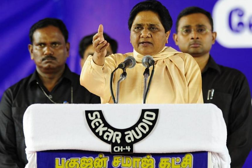 Mayawati, a leader for low-caste Dalits, was banned from campaigning for 48 hours for calling on Muslims to vote in a bloc against Indian Prime Minister Narendra Modi's Bharatiya Janata Party.