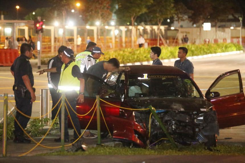 The Singapore Civil Defence Force said it was alerted to the accident at the junction of Central Boulevard and Marina Way at 6.10pm on April 15, 2019.