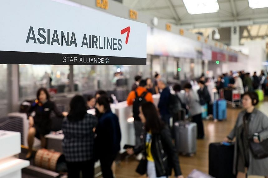 In addition to battling rising fuel costs and competition from low-cost carriers, Asiana Airlines has 3.4 trillion won ($4 billion) in short-term obligations, including 1.3 trillion won of loans maturing this year. Kumho Industrial, which controls ab