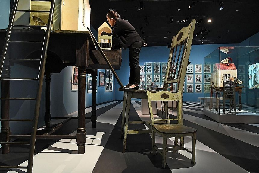 Visitors can climb onto an oversized chair and experience what it feels like to shrink in size, just like Alice in Lewis Carroll's classic novel, Alice In Wonderland. At a Mad Hatter's tea party, museumgoers seated around a table will be treated to a