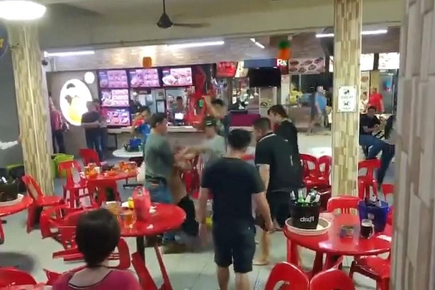Recent videos of public brawls include this one at a coffee shop in Woodlands. Psychologists say urban dwellers face greater pressure to perform in their social and professional lives, which can lead to anger.