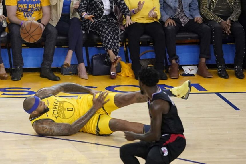 The Golden State Warriors lost centre DeMarcus Cousins to a potentially serious left quad injury in the first quarter.