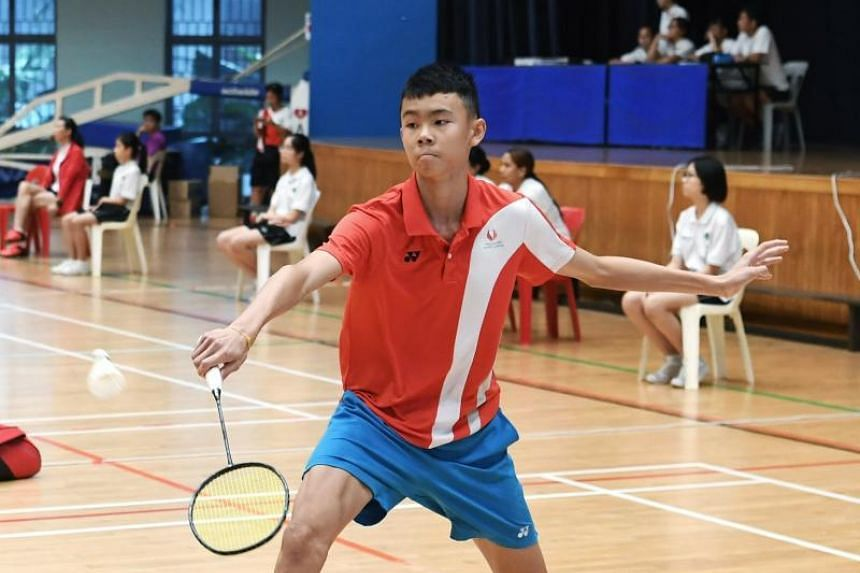 Even though he knew he and his team-mates had prepared well, Singapore Sports School's B Division boys captain Lim Ming Hong (above) said he was still nervous about keeping up the winning streak.