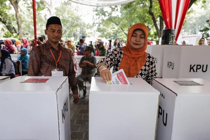 More than 192 million people are eligible to vote in Indonesia's first-ever simultaneous presidential and legislative elections.