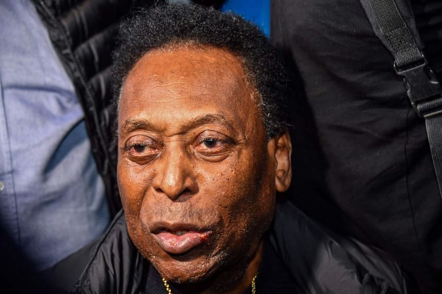Pele (above) spent a week at a hospital in Paris being treated for a urinary infection.