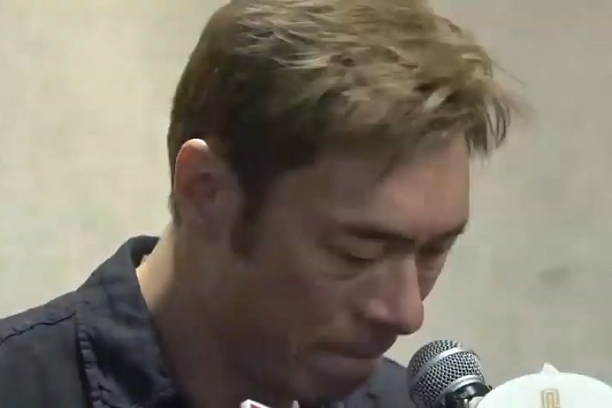 Andy Hui showed up for a tearful seven-minute press conference held at a Hong Kong hotel on April 16, 2019, admitting to a dalliance with TVB actress Jacqueline Wong.