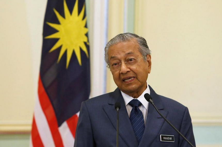 Malaysian Prime Minister Mahathir Mohamad's comments come after Malaysia and China last week agreed on a deal that would lower the cost of building the 640km East Coast Rail Link to RM44 billion (S$14.5 billion).