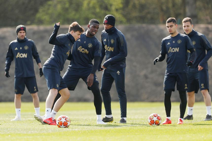 Manchester United will be relying on attacking players like Anthony Martial (third from right) when they visit the Nou Camp to face Barcelona in the second leg of their Champions League quarter-final. The LaLiga giants lead 1-0 from the first leg.