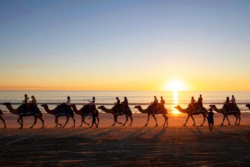 Cable Beach Sunset Camel Ride, Broome. PHOTO: JETABOUT HOLIDAYS