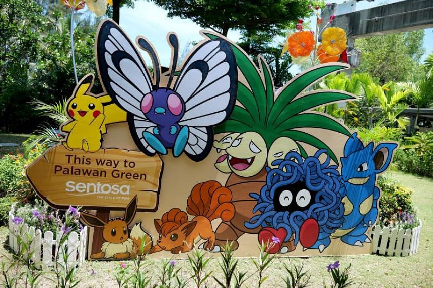 Pokemon trainers can pose for photos at these various Pokemon installations at Sentosa during the Pokemon Go Safari Zone event, which starts on April 18, 2019.