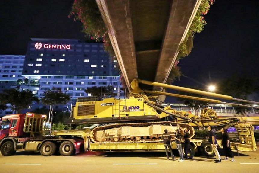 The Building and Construction Authority and Land Transport Authority said that the structural integrity of the overhead bridge was not compromised by the collision.