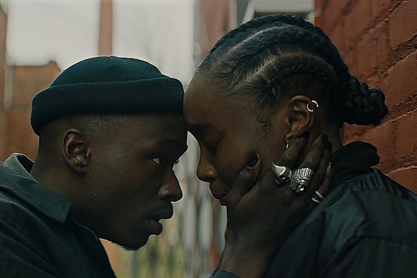 Ashton Sanders (far left) and KiKi Layne, who plays his girlfriend Bessie, in racially charged thriller Native Son.
