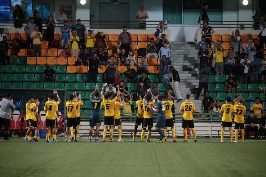 The Stags next play Yangon FC at Jalan Besar Stadium on May 1, 2019.