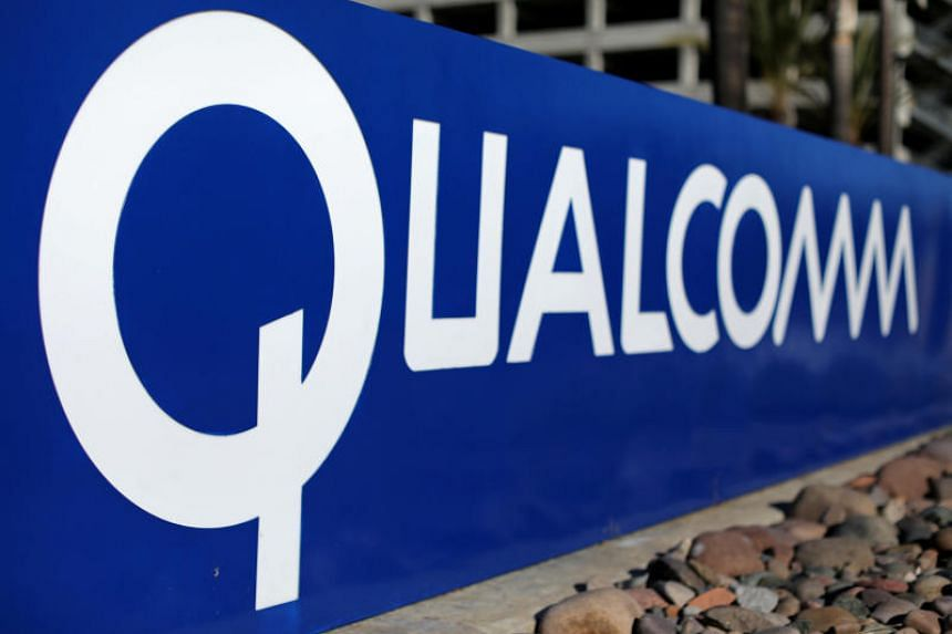 A sign on the Qualcomm campus is seen in San Diego, California, US, on Nov 6, 2017.